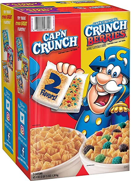 Cap'n Crunch Oops All Berries – Crunch berries causes green poop.