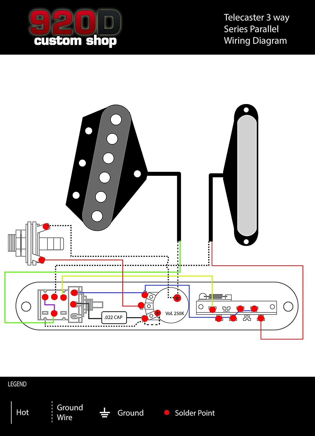 Fender Telecaster Loaded 3 Way Control Plate W Push Pull Nasville Wiring Diagram Power Series Parallel Chrome Musical Instruments