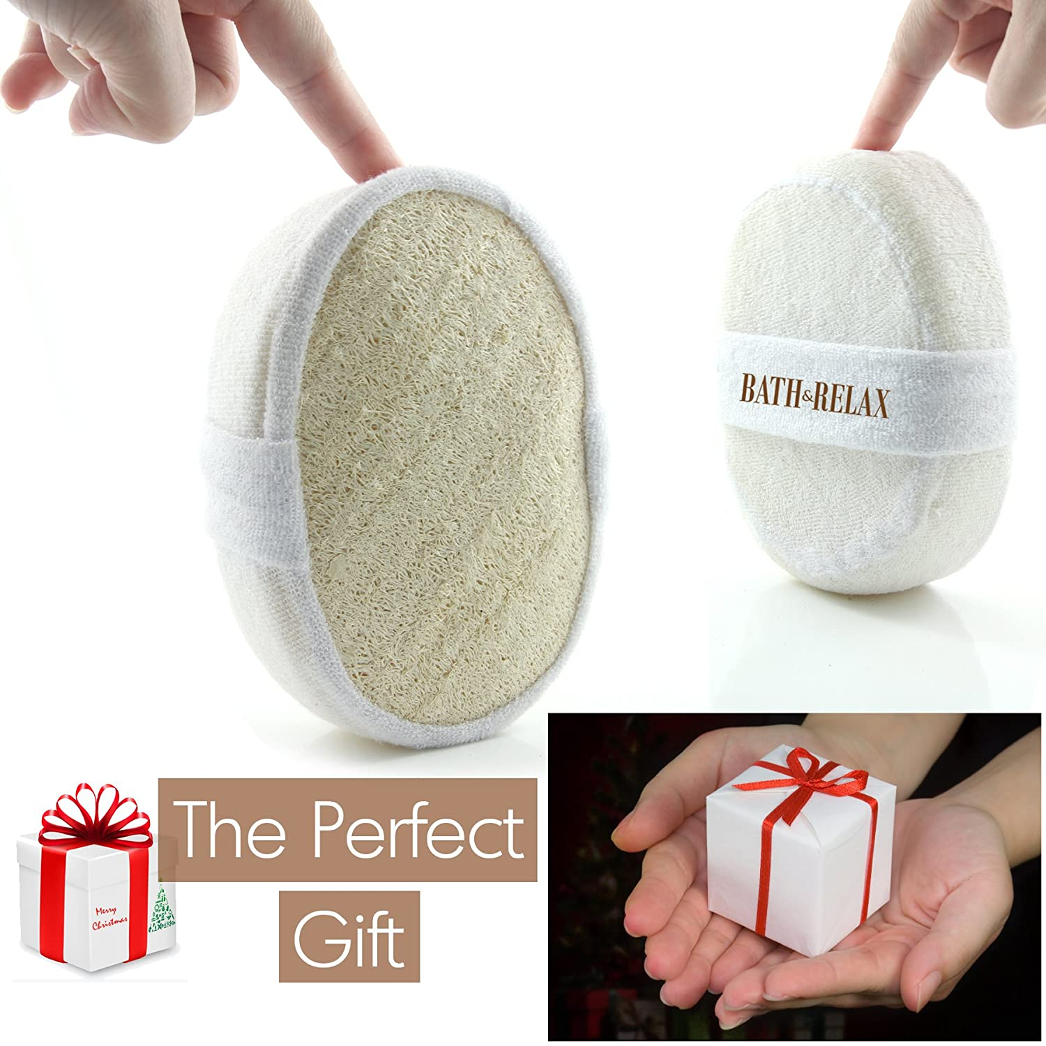 Superieur Amazon.com : Exfoliating Loofah Bath Sponge Pads Pack Of 4   Ultra Thick,  Great For Exfoliating Shower   100% Natural   Best Luffa Sponge And Spa  Scrubber ...