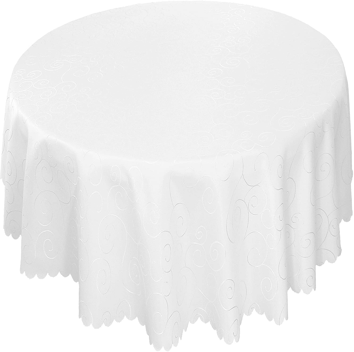 EcoSol Designs Microfiber Damask Tablecloth, Wrinkle-Free & Stain Resistant (60