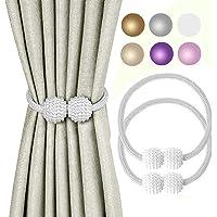 KIKIMO Window Curtain Tiebacks Clips, Strong Magnetic Tie Band Home Office Decorative Drapes Weave Holdbacks Holders…