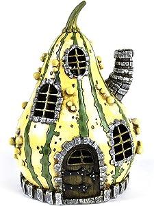 Georgetown Striped Gourd Fairy Home - Fiddlehead Fairy Garden Collection