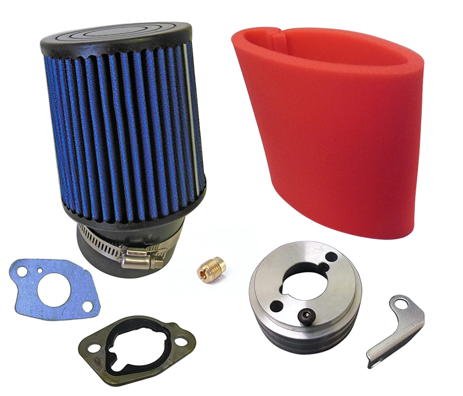 Air Filter, Adapter, Pre-Filter, Gaskets & Upgrade Jet for