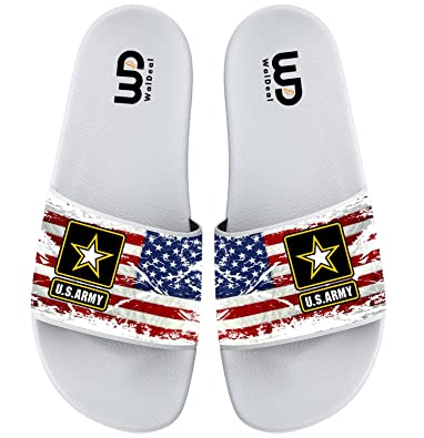 U.S Army Stars And Stripes Slide Sandal For Men's Women Soft Bathroom Shower Beach Slippers Sandal
