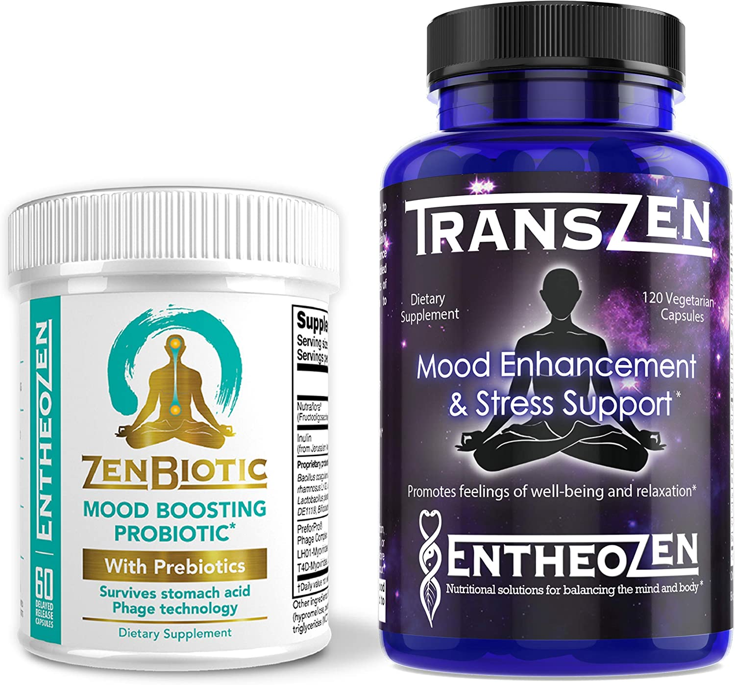 TransZen & ZenBiotic - Mood Boosting Combo | Depression & Anxiety Supplement with Mood Boosting Probiotic