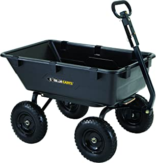 Charmant Gorilla Carts GOR6PS Heavy Duty Poly Yard Dump Cart With 2 In 1