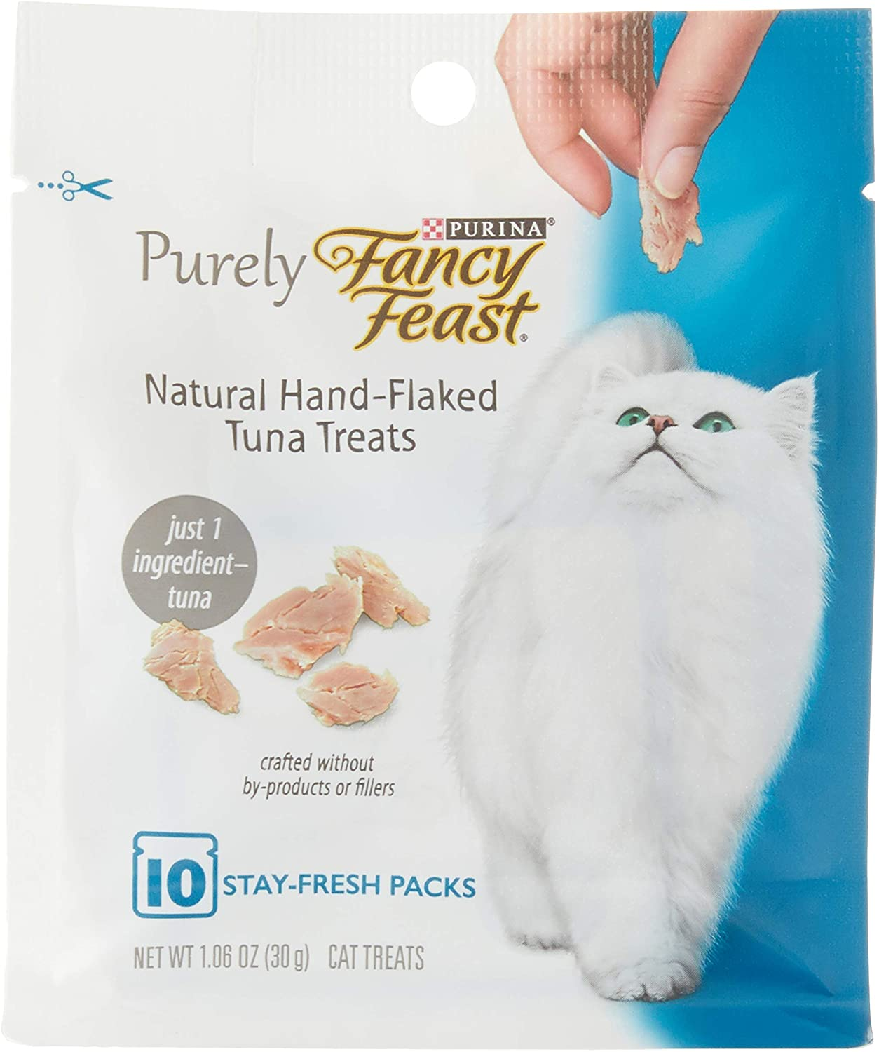 Purina Fancy Feast Purely Natural Hand-Flaked Tuna Cat Treats 1.06 Oz. Pouch