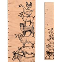 Farmhouse Wooden Growth Chart | Baby Shower Gift | Measuring Height Chart for Babies, Kids, Boys & Girls