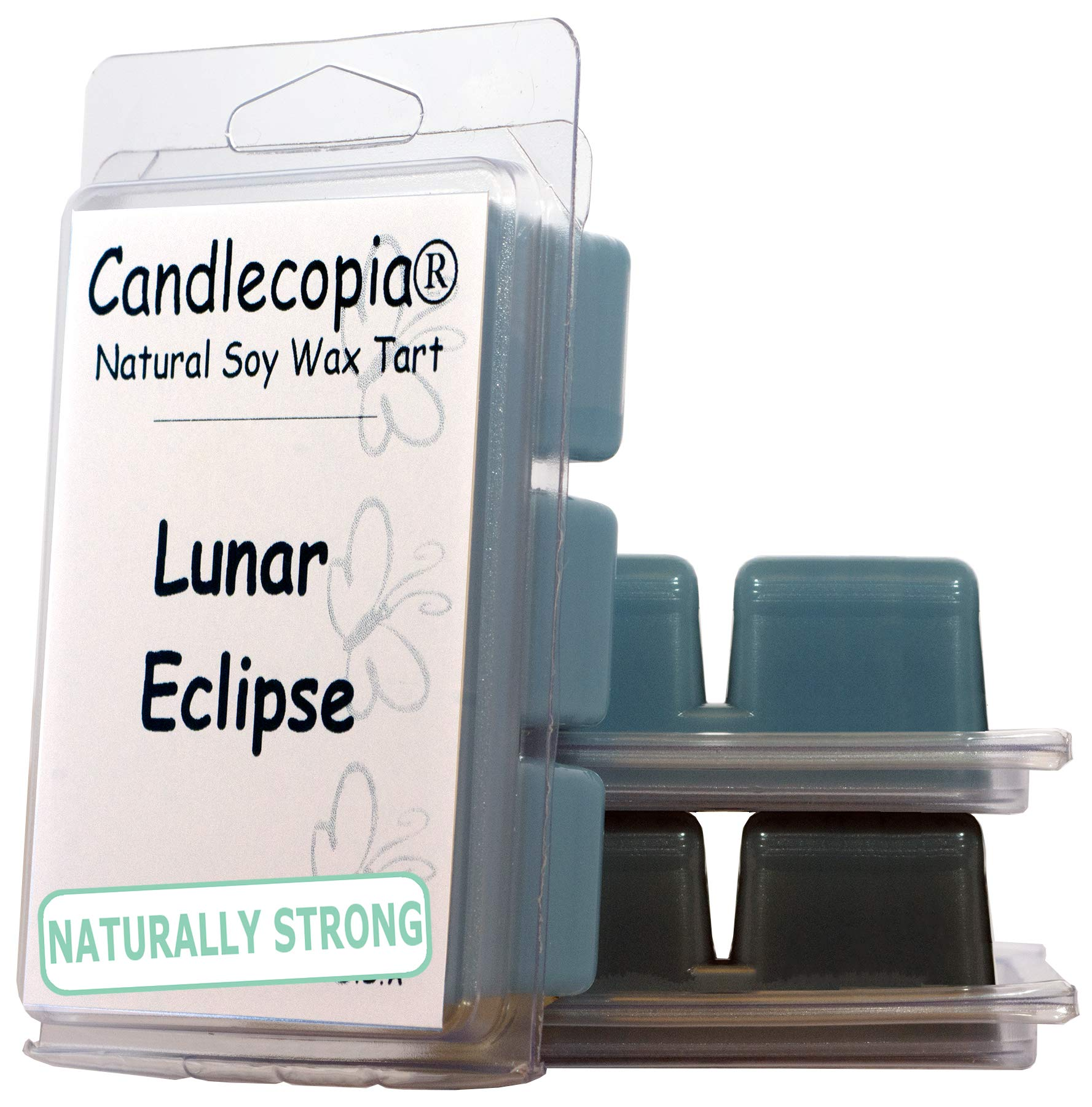 Candlecopia Stormy Nights, Black Sea and Lunar Eclipse Strongly Scented Hand Poured Vegan Wax Melts, 18 Scented Wax Cubes, 9.6 Ounces in 3 x 6-Packs