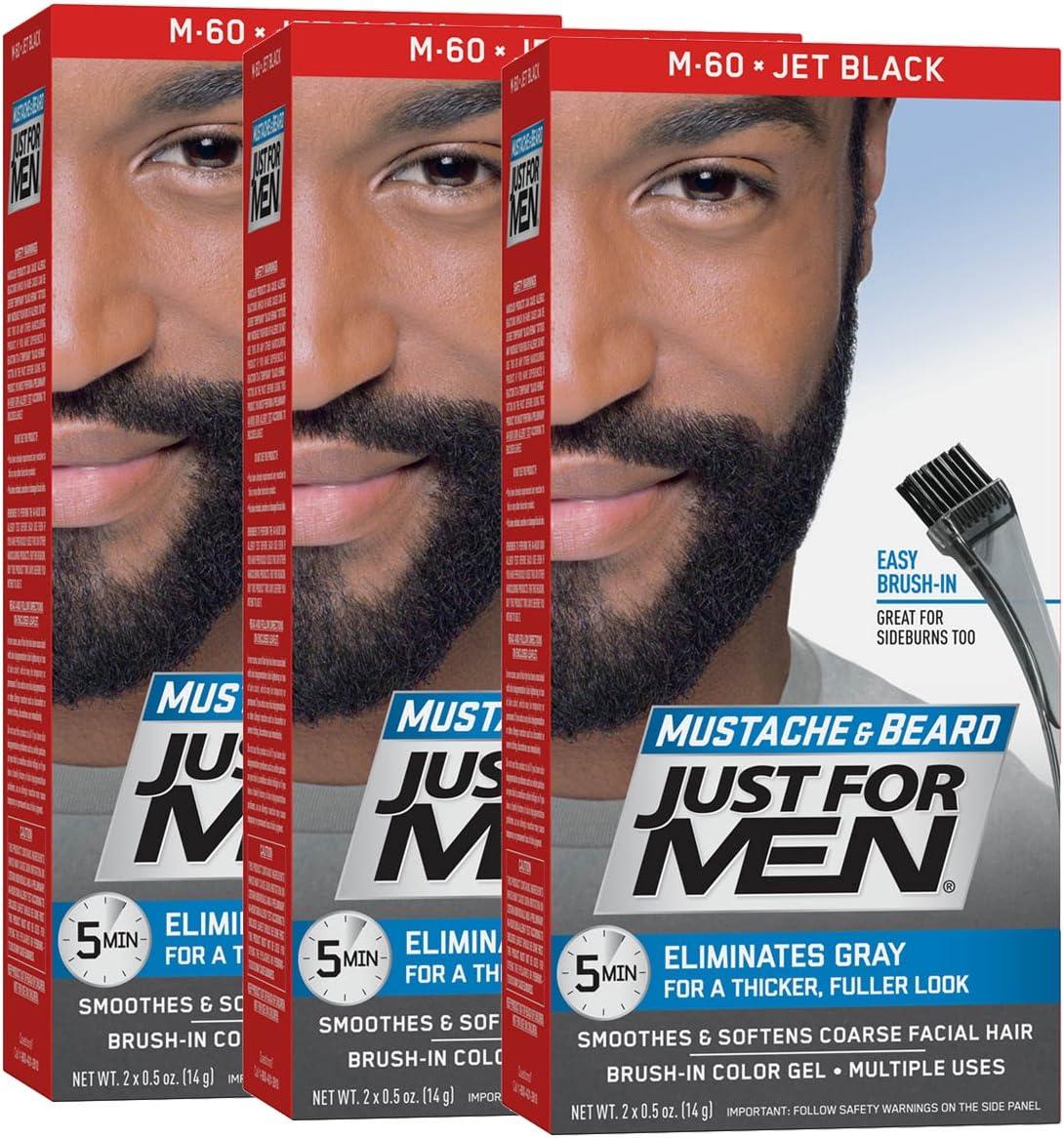 Just For Men Gel de color para bigote barba & Patillas (Pack de 3 ...