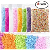 BASEIN Colorful Foam Balls for Slime 8 Pack Foam Beads for Slime Mini Foam Balls for Kids and Adult DIY Centerpieces, Wedding and Party Decoration