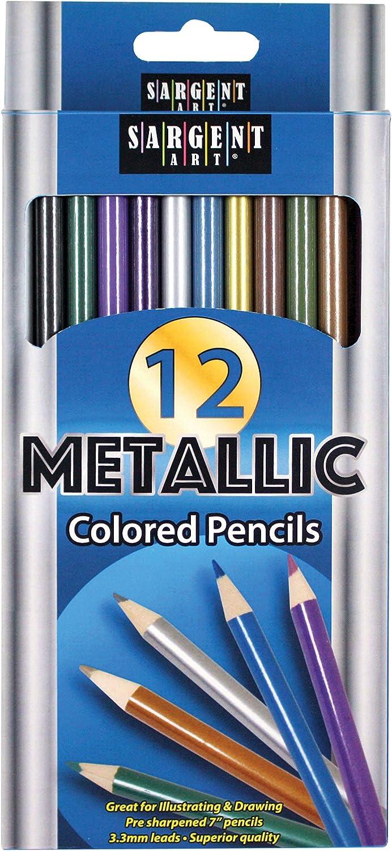 Sargent Art Non-Toxic Watercolor Pencil Set of 12 7 in L Assorted Color