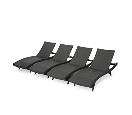 Oakville Outdoor Patio Rattan Wicker Adjustable Pool Chaise Lounge Chair U2013  Set Of 4
