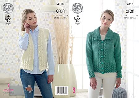 d2a7103c5 Image Unavailable. Image not available for. Colour  King Cole 4818 Knitting  Pattern Womens Jacket ...