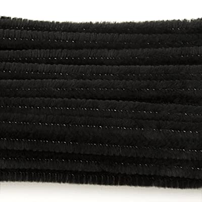 Black 6 Millimeter, Chenille Stems, 100 Piece: Arts, Crafts & Sewing