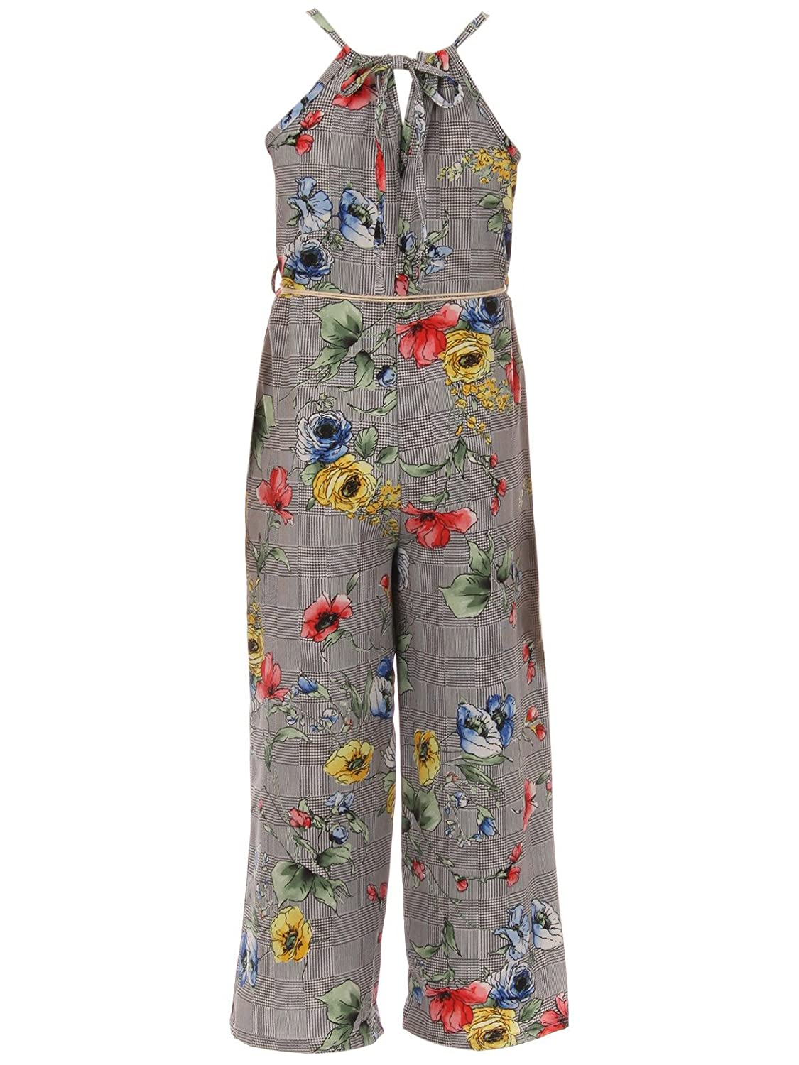 BNY Corner Girls Jumpsuits Floral Graduation Casual Summer Birthday Outfit 4-14 JKS 2127 SYYellow12