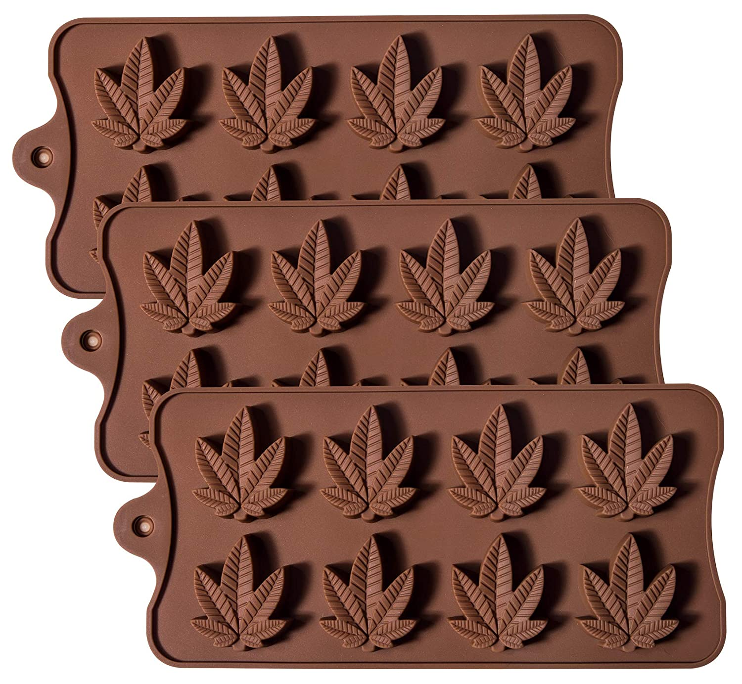 Silicone Candy Mold - Korlon Chocolate Gummy Molds Ice Cube Trays for Party Gummies Cupcake Toppers Ice Soap Chocolate Cookies Butter or Party Novelty Gift, Pack of 3 CLN-042
