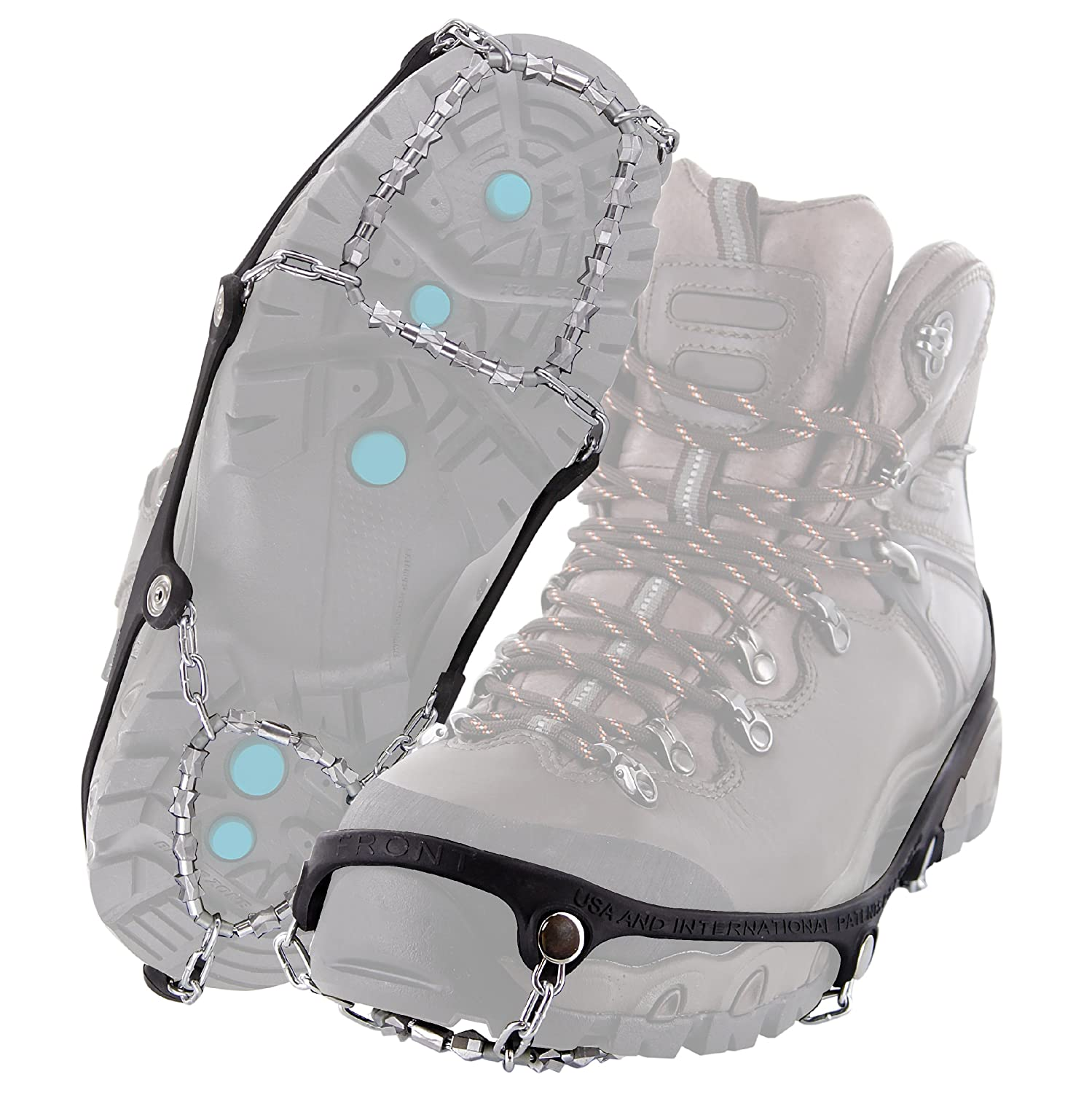 3b89ce6495329 Amazon.com : Yaktrax Diamond Grip All-Surface Traction Cleats for Walking  on Ice and Snow (1 Pair), Large : Sports & Outdoors