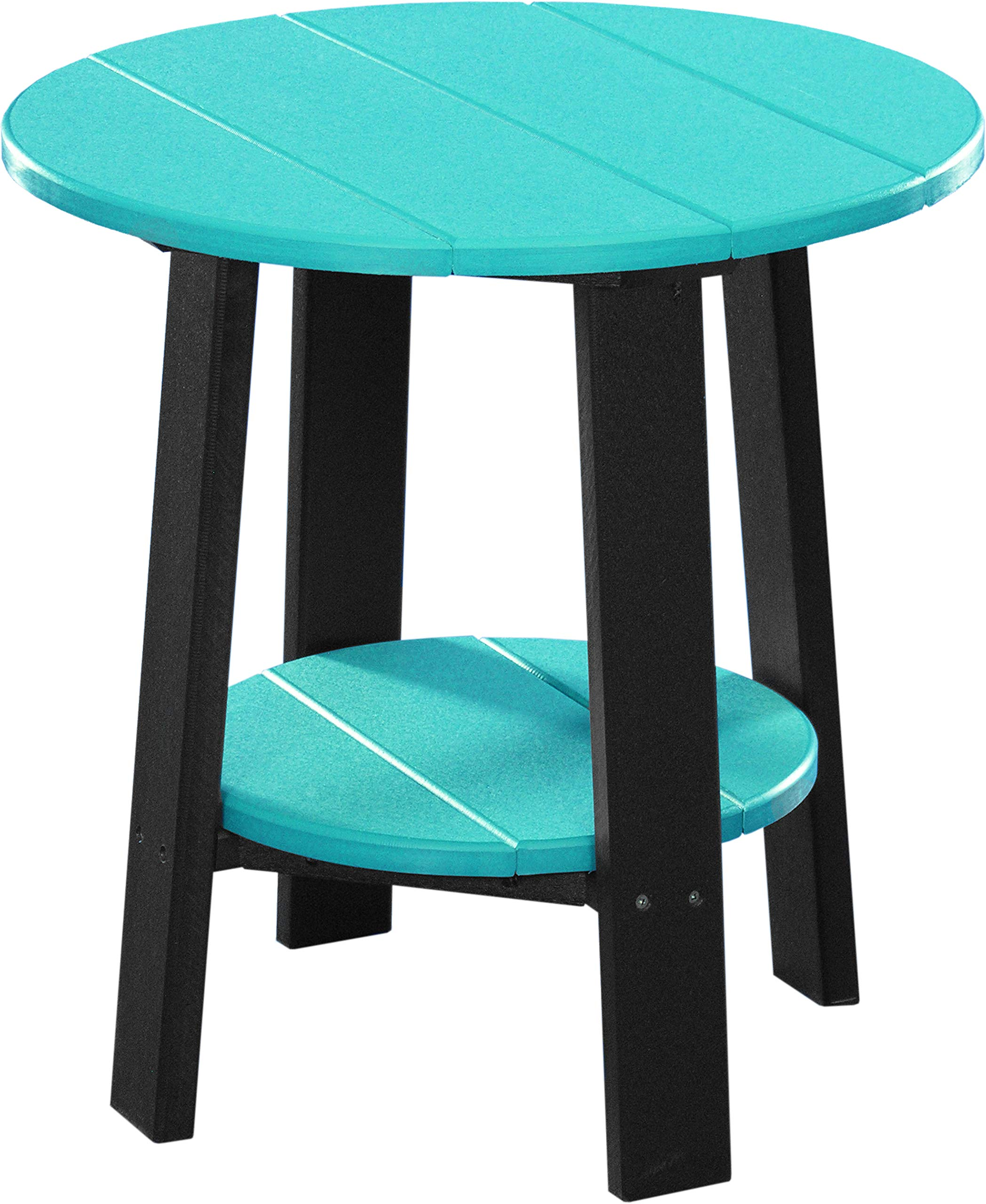 Deluxe End Table - Poly - Aruba Blue & Black