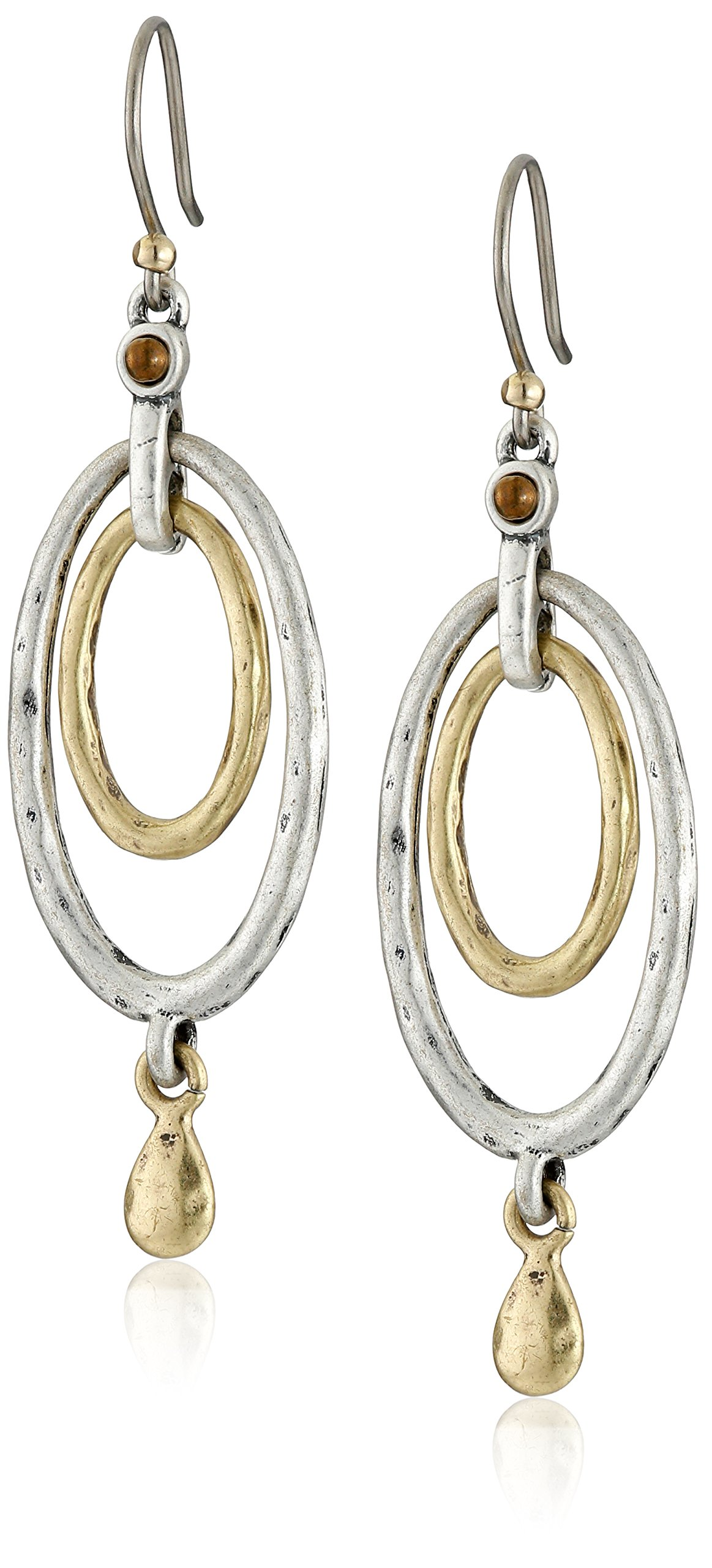 Lucky Brand Two Tone Oval Orbital Earrings
