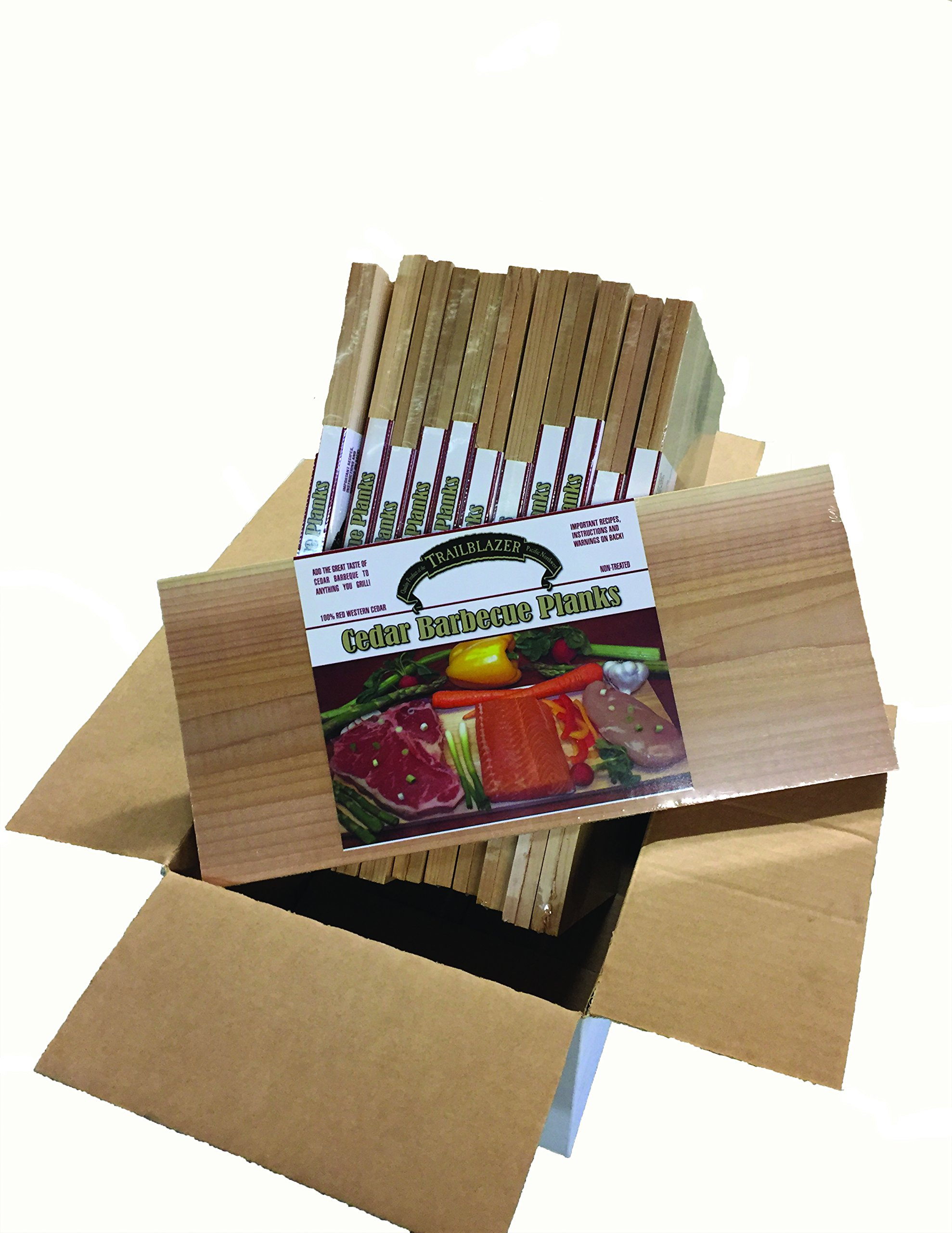 Case of Gourmet Cedar Grilling Planks (15'' x 7'' x 3/8'') 2 Packs Packaged for Resale (24 Boards Total)