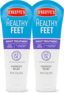 O'Keeffe's Healthy Feet Night Treatment Foot Cream (Pack of 2), White, 2 Pack (103011)