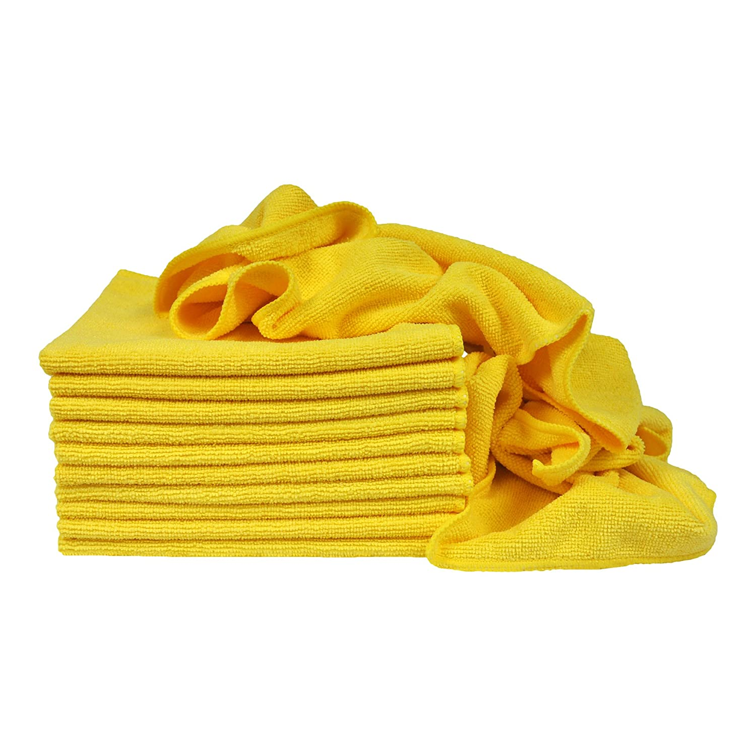4332948844 Eurow Utility Terry Weave 16 x 16in 240 GSM Microfiber Cleaning Towels Green 12-Pack Eurow /& O/'Reilly Corp