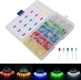 30 Pcs 3mm Diameter Green LED Light Emitting Diodes 2 Pin
