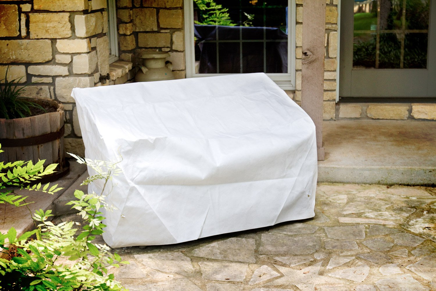 KoverRoos DuPont Tyvek 24204 5-Feet Bench/Glider Cover, 75-Inch Width by 28-Inch Diameter by 37-Inch Height, White by KOVERROOS (Image #4)