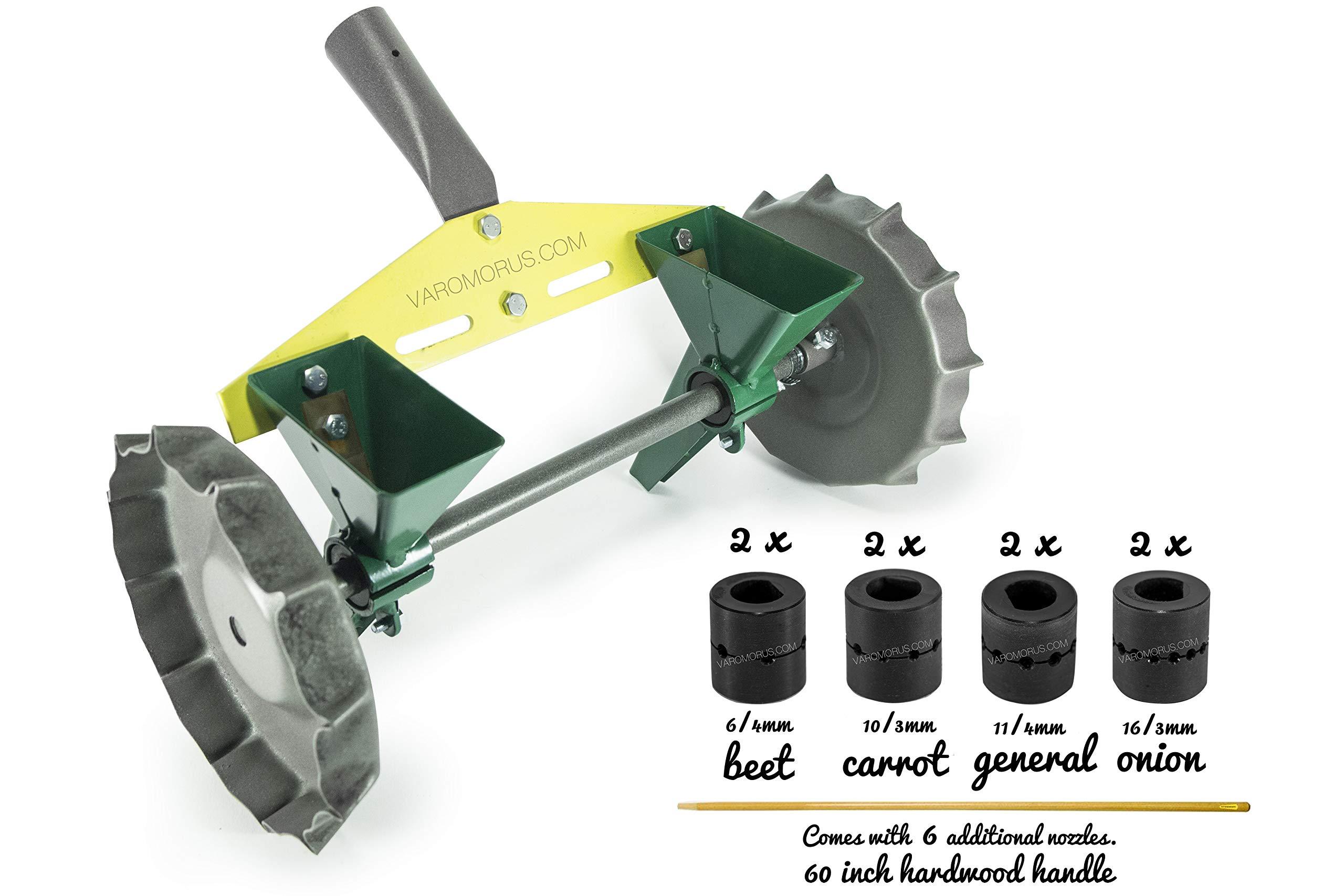 Seeder manual precision seeding for seeds and vegetable garden garden metal.