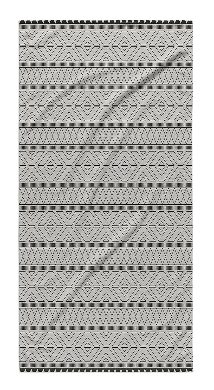 KAVKA Designs Marrakesh Grey Bath Towel, (Black/Grey) - NAVAJO Collection, Size: 30x62x.5 - (MGTAVC2019FSBT) TOW-FSBT-30X62-MGT2019