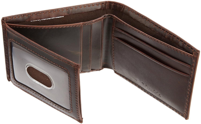 columbia men s slim traveler wallet brown one size amazon ca