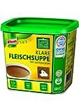 Knorr klare Fleischsuppe (mit Suppengrün, Rinderbrühe nach bewährter Rezeptur) 1er Pack (1x 880g)