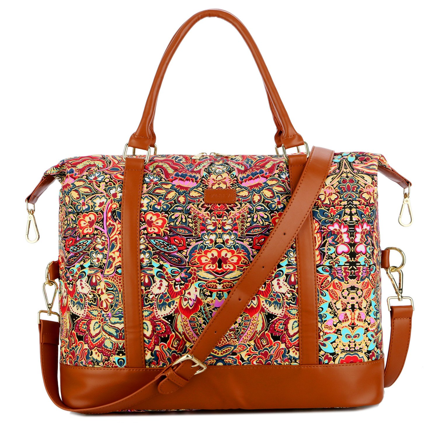 BAOSHA HB-28 Women Ladies Travel Weekender Bag Overnight Carry-on in Trolley Handle Colour
