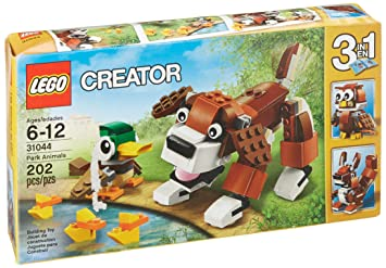 Amazoncom Creator Lego 202 Pcs Park Animals 3 In 1 Brick Box