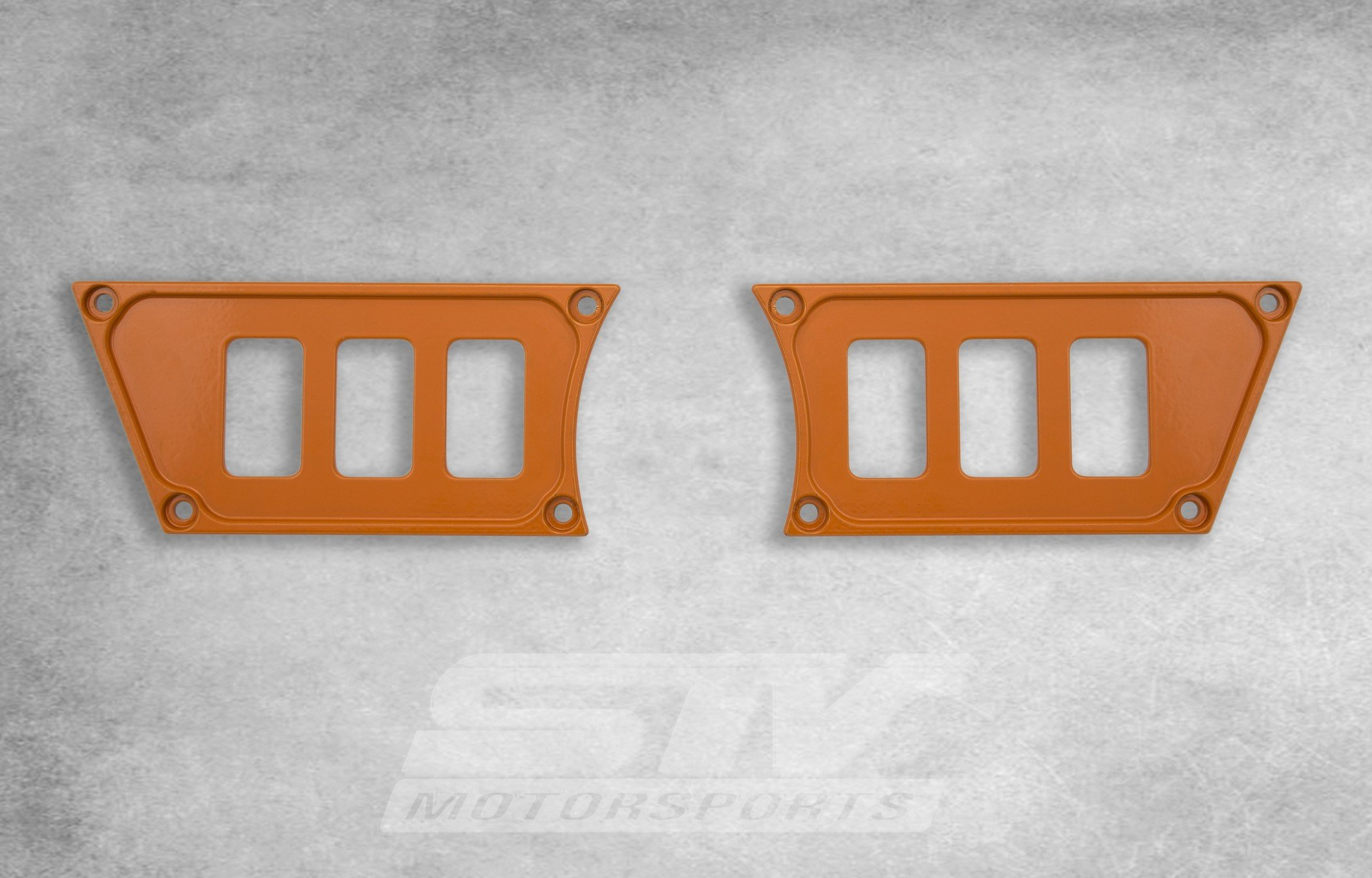 STV Motorsports Custom Orange Aluminum Dash Panel for POLARIS RZR XP 1000 with 6 switch openings – MADE 100% in USA (no switches included)