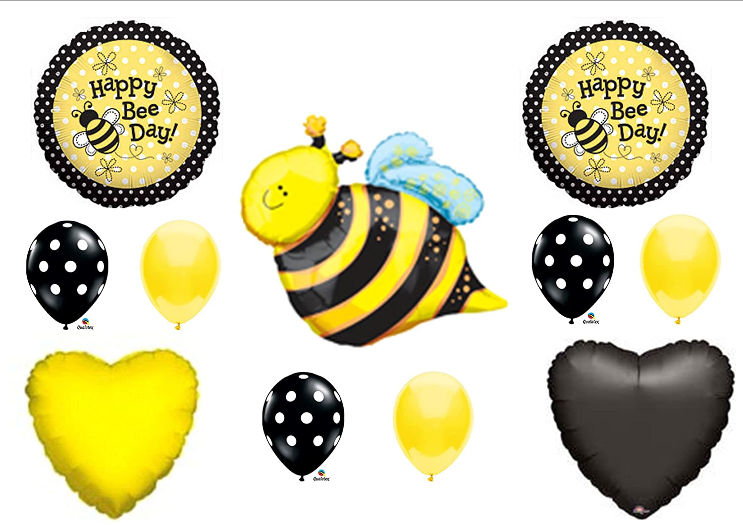 Amazon Happy Bee Day Bumblebee BIRTHDAY PARTY Balloons Decorations Supplies NEW By Anagram Toys Games