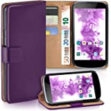 OneFlow PREMIUM - Book-style case in a wallet design with stand function - for LG Google Nexus 4 - INDIGO-VIOLET