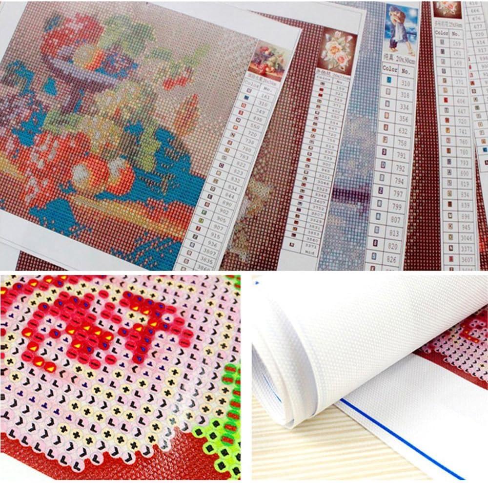 MXJSUA Bricolage 5D Diamant Peinture par Nombre Kits Plein Foret Strass Photo Arts Artisanat pour La Maison Mur D/écor Bord De Mer Phare 30x40 cm