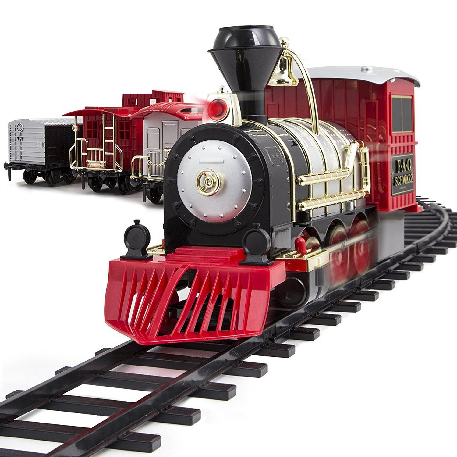 FAO Schwarz Classic Motorized Train Set, 34-Piece Complete Toy Set with  Engine, Cargo, 20 Feet of Modular Tracks, for Children, 4 Unique Train Cars