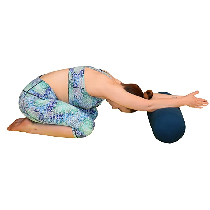 Blue Dove Yoga Bolster Yoga Rodillo 24 Centimeter x 63 Centimeter Algodon Organico Cojin Meditación Certificado Gots
