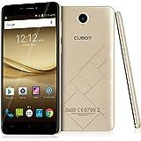 Cubot Max 4G LTE Smartphone, 6.0 Pollici (15,2cm) HD IPS-Display, Android 6.0, Octa-core Dual Sim Telefoni Cellulari, 1280 x 720, 1.3GHz , 3GB RAM, 32GB Memoria Interna, espansione della carta di TF di sostegno 128G, Oro
