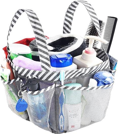 EE/_ AF/_ Portable Mesh Shower Caddy Organizer Storage Basket Travel Tote Bath Bag