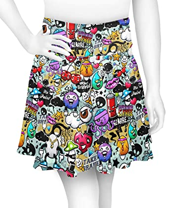 d440d02ff699 YouCustomizeIt Graffiti Skater Skirt (Personalized) at Amazon ...