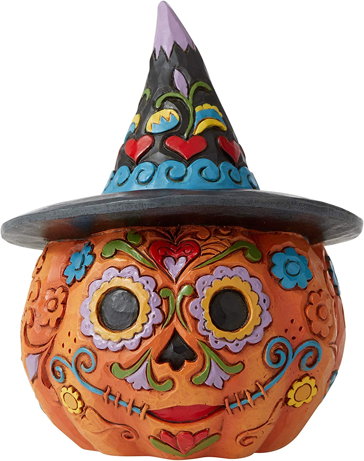 Enesco Jim Shore Heartwood Creek Day of The Dead Pumpkin Mini Figurine