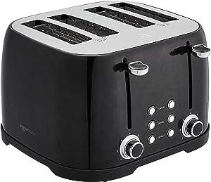 AmazonBasics 4-Slot Toaster, Black