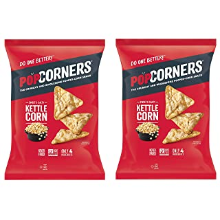 PopCorners PopCorn Snack Chips Pack of 2 5oz Bags (Sweet and Salty Kettle Corn PopCorners)