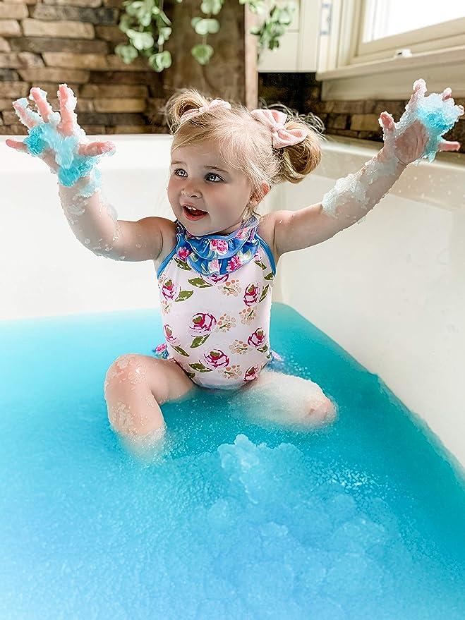 Zimpli Kids Limited verwandelt Ihr Badewasser in einen Gooey Schleim SLIME BAFF 150 g blau//rot und gr/ün 3 St/ück BUNDLE