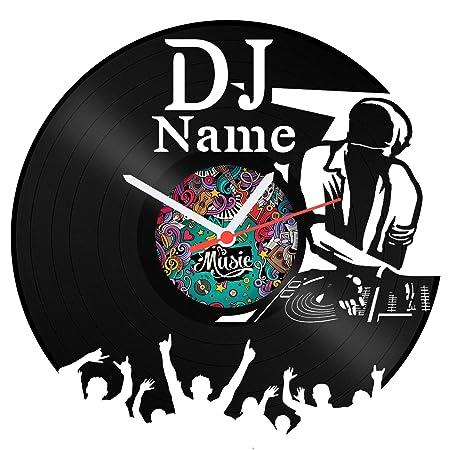 Reloj Tocadiscos DJ de vinilo con grabado de vinilo Reloj ...