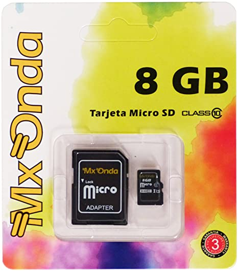 Mx Onda 457.58 - Tarjeta de memoria micro SDHC de 8 GB ...